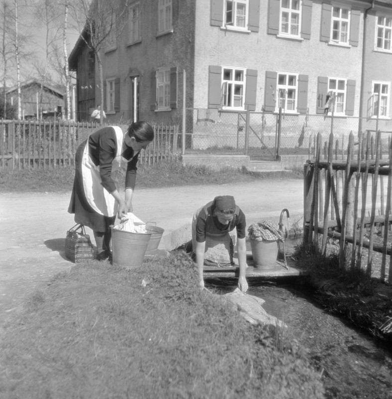 Waschtag in Isny, 1939