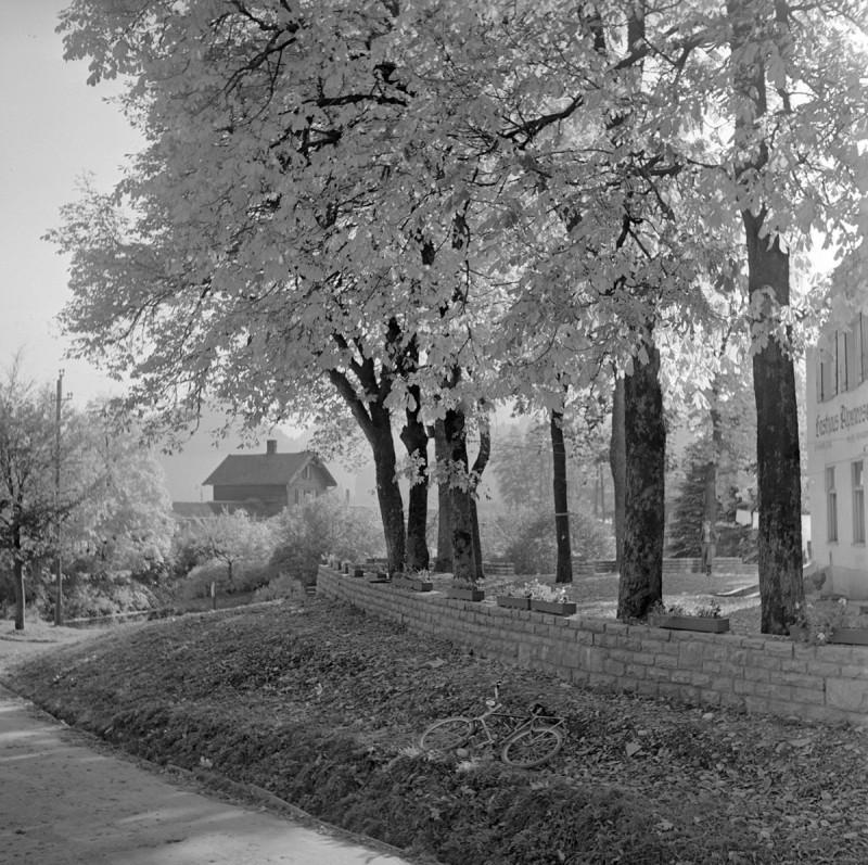 Bahnhof in Fischen, 1952