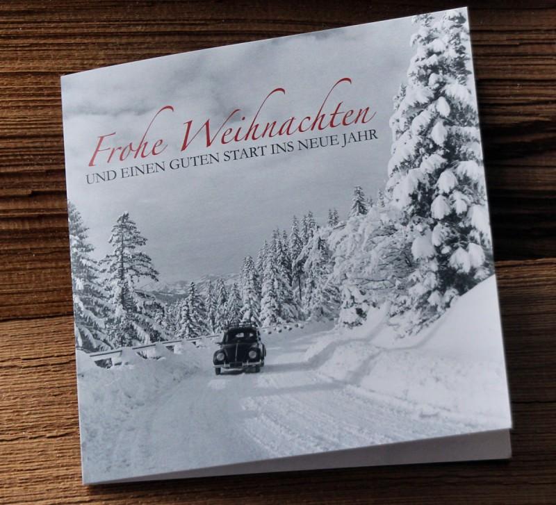"Lala Weihnachtskarte ""Käfer"""