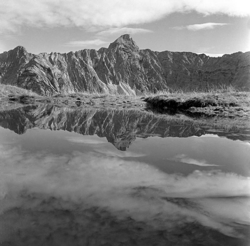 Nebelstimmung am Hochvogel, 1952