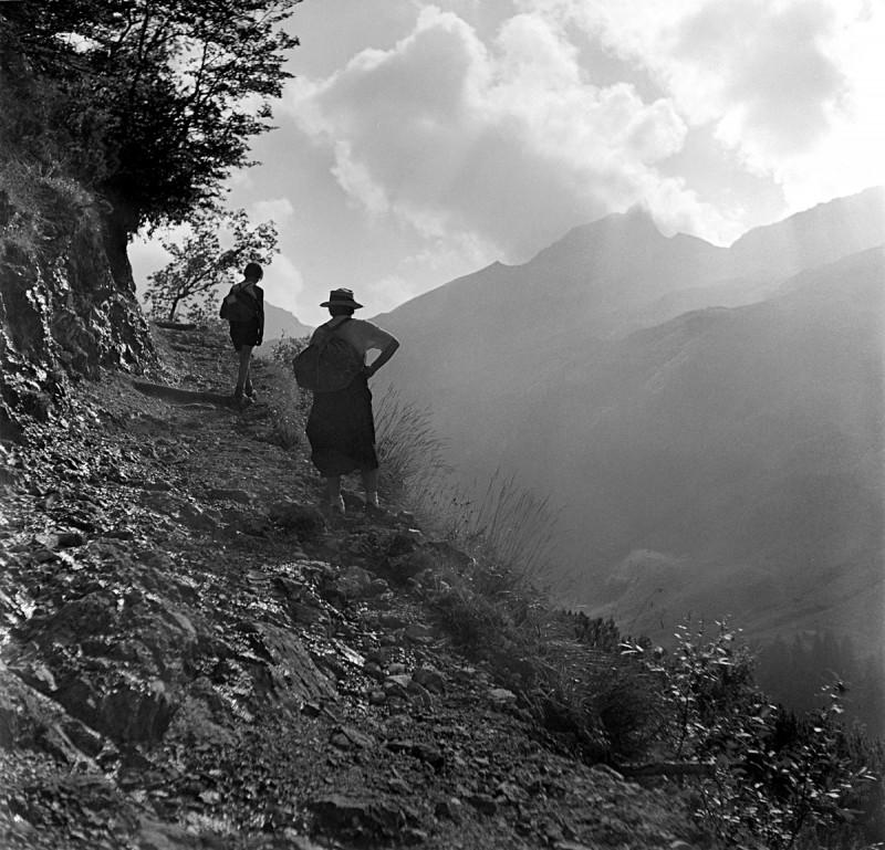 Morgendlicher Aufbruch ins Bärgründle, 1939