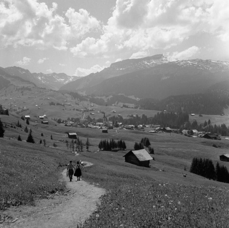 Fernsicht ins kleine Walsertal, 1952