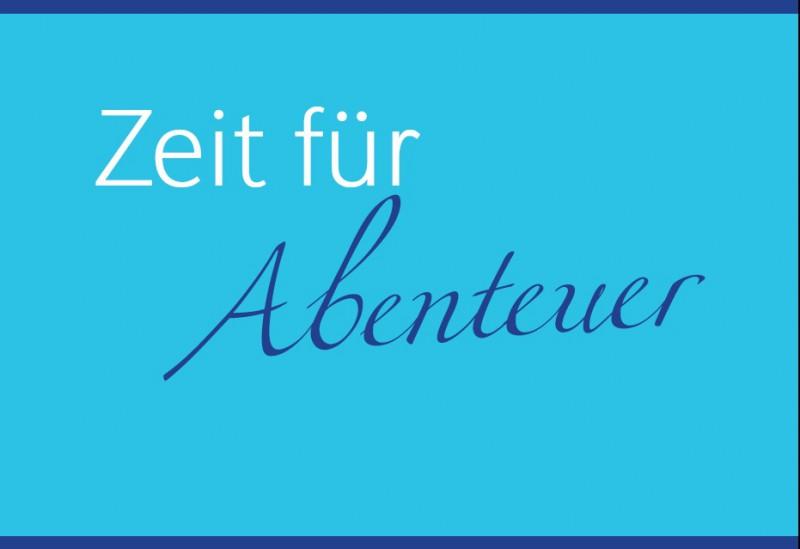 """Postkarte """"Zeit für Abenteuer"""""""