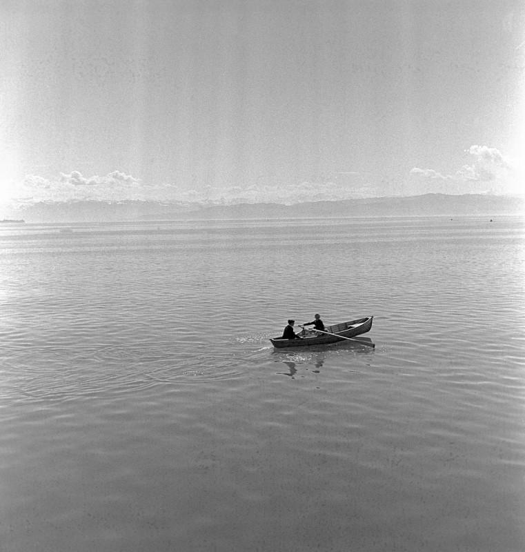 Ruderboot auf See, 1953