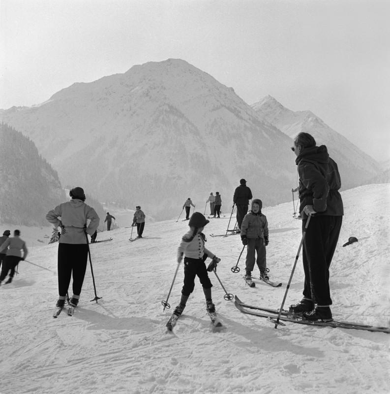 Skiplatz am Luipoldbad, 1952