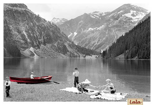"Postkarte ""Picknick am See"""