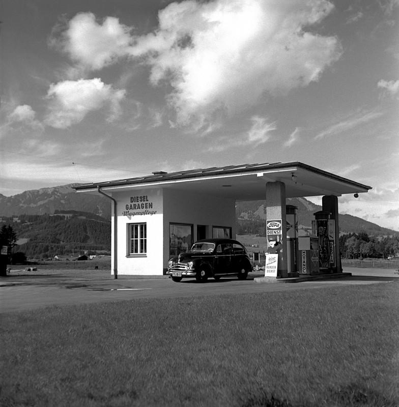 Alte Tankstelle in Sonthofen, 1951