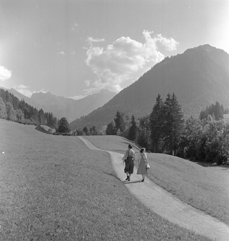 Weite Landschaft bei Oberstdorf, 1951
